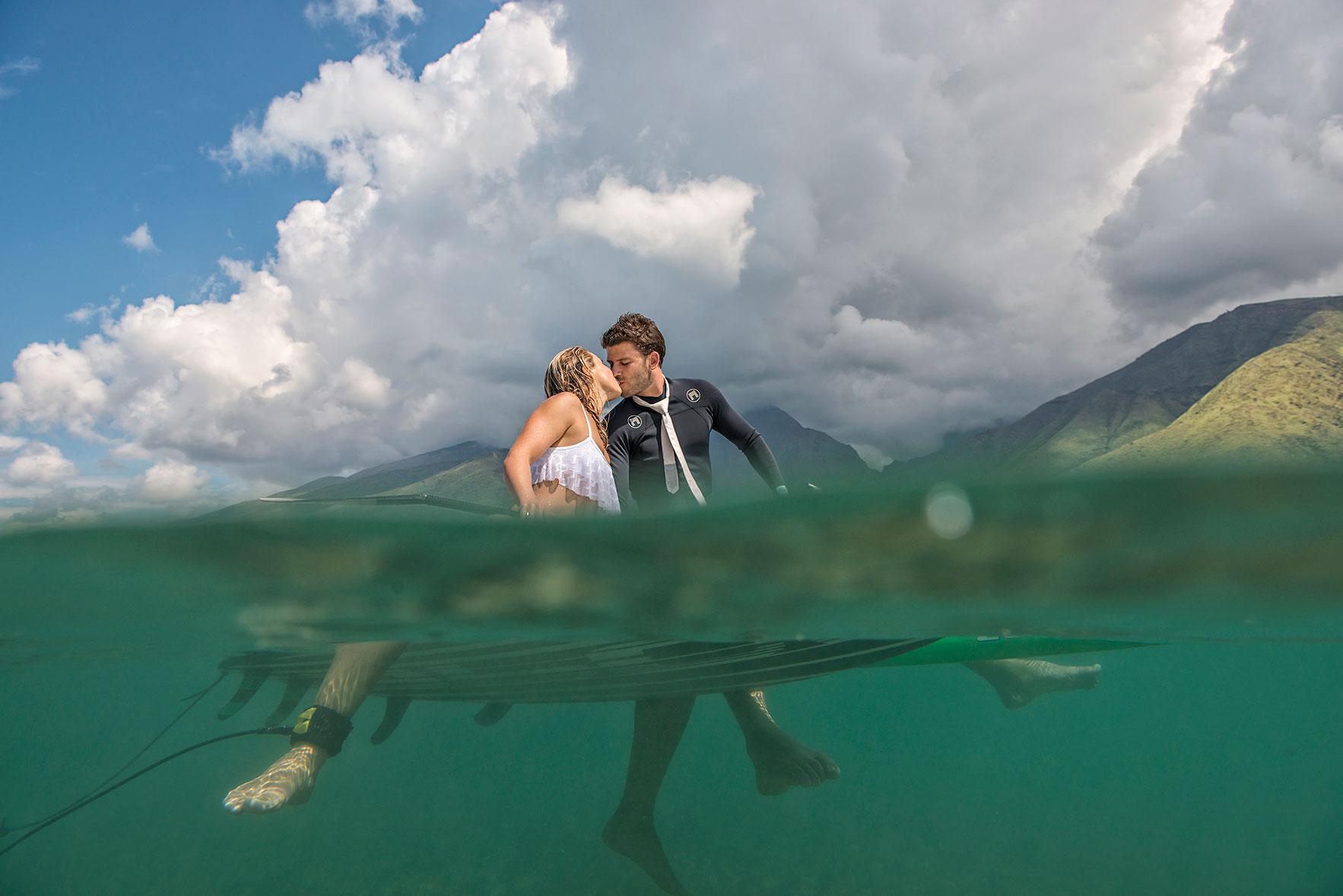 Surf Wedding - Maui Wedding Photographers