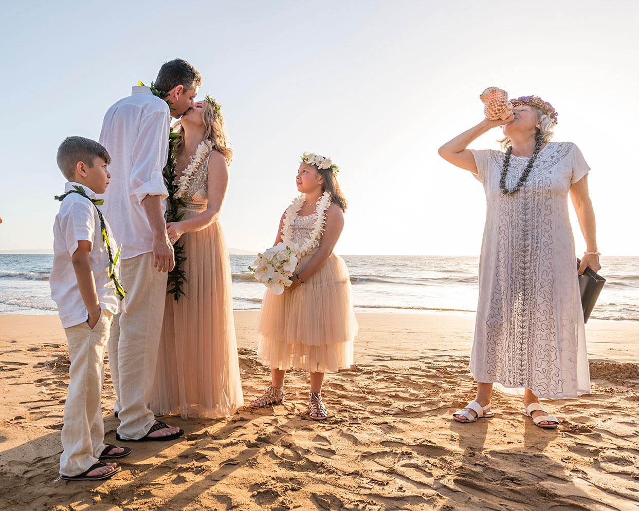 beach wedding ceremony maui