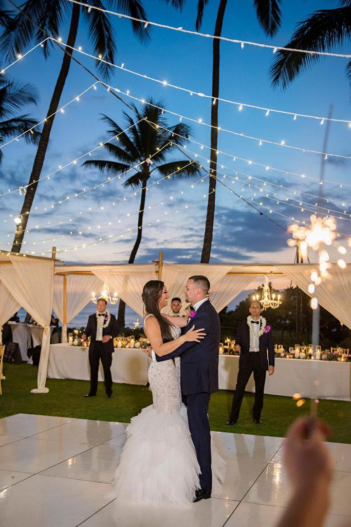 First Dance Andaz Wedding Photographer Wailea Maui