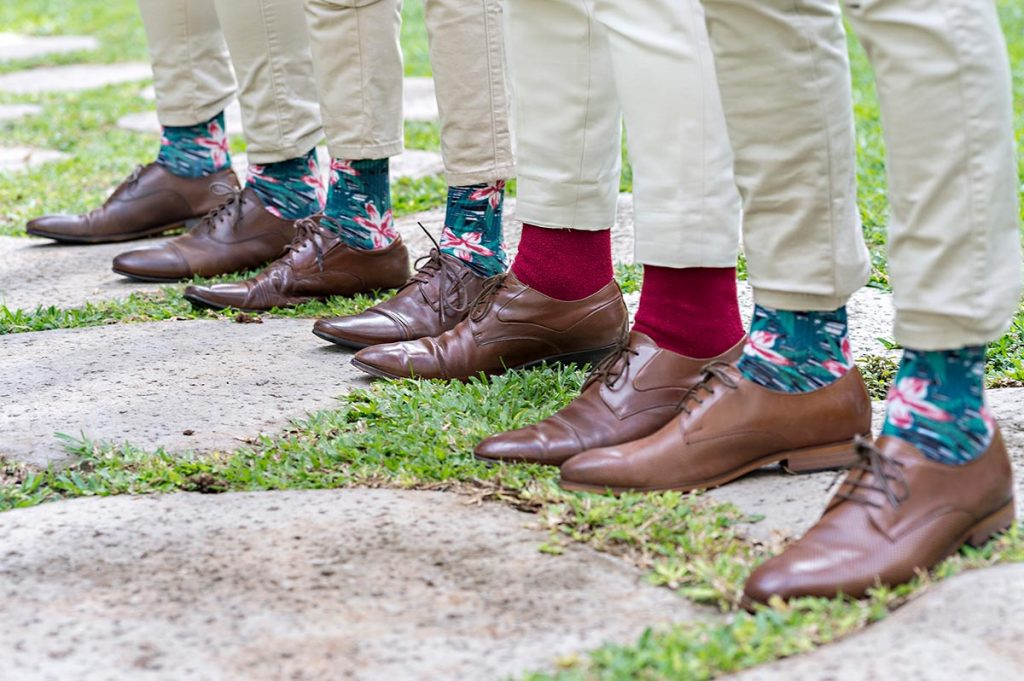Tropical Socks For Groomsmen