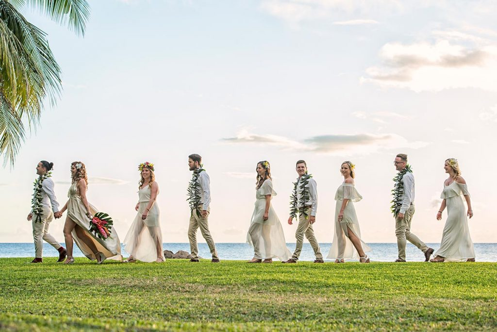 Bridal Party Photos Olowalu Plantation House Wedding