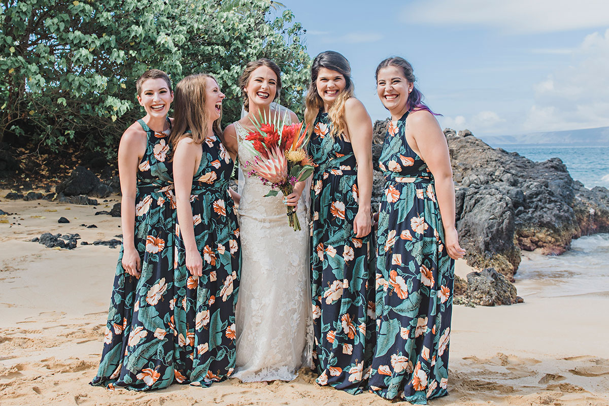 Maui Tropical Bridesmaid Dresses