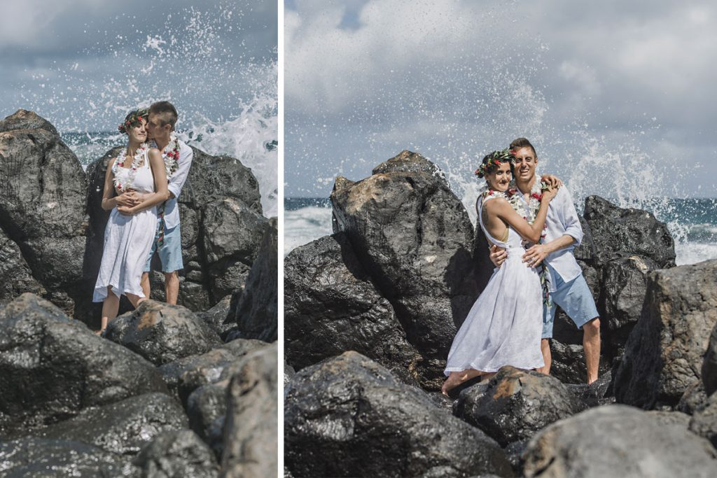 Fun Maui Beach Wedding Photography